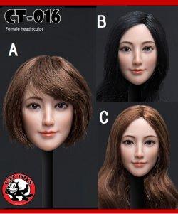 画像1: CATTOYS 1/6 アジア女性ヘッド 3種 CT016 *お取り寄せ