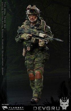 """画像1: FLAGSET 1/6 US SEALs Team 6 """"DEVGRU"""" Jungle Dagger アクションフィギュア FS-73020 *お取り寄せ"""