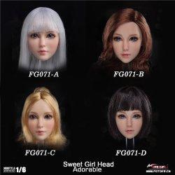 画像1: Fire Girl Toys 1/6 FG071 Sweet Girl ヘッド 4種 *お取り寄せ