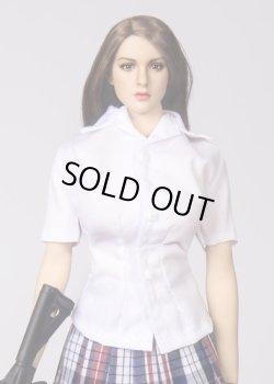 画像1: Technic Toys 1/6 女性 コットン ホワイト シャツ TYM025 *予約