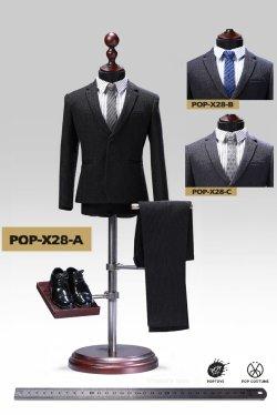 画像1: POPTOYS 1/6 X28 メンズスーツ ストライプ 3種 *予約