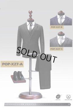 画像1: POPTOYS 1/6 X27 メンズスーツ スリーピース 無地 3種 *お取り寄せ
