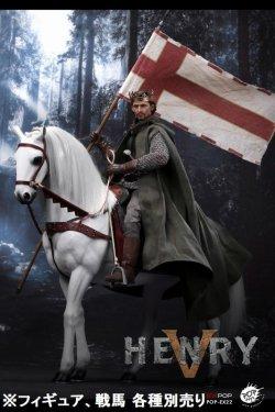 画像1: POPTOYS 1/6 ヘンリー五世 トム・ヒドルストン ヘッド2個 アクションフィギュア / 戦馬 EX022 *予約