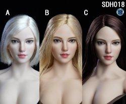 画像1: Super Duck 1/6 女性ヘッド 3種 SDH018 *予約