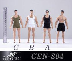 画像1: Toy Center 1/12 メンズ スポーツ インナー 上下セット タンクトップ 3種 CEN-S04 *お取り寄せ
