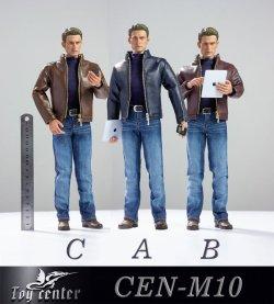画像1: Toy Center 1/6 キャプテンアメリカ スティーブ メンズ レザー スーツ セット 3種 CEN-M10  *お取り寄せ