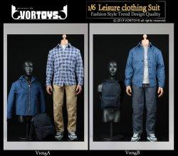 画像1: VORTOYS 1/6 メンズ カジュアル & リュック セット 2種 V1016 *お取り寄せ