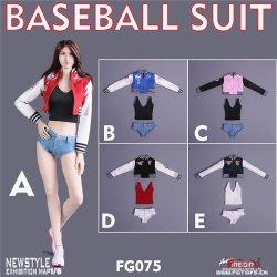 画像1: Fire Girl Toys 1/6 FG075 女性 ベースボール ジャケット & ホットパンツ セット 5種 *お取り寄せ