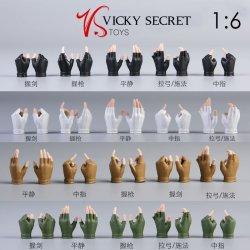 画像1: VSTOYS 1/6 女性 グローブハンド 手袋 指なし パーツ セット 8種 19XG57 *予約