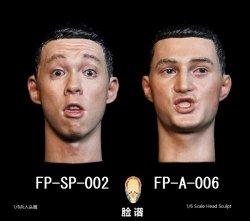 画像1: FacepoolFigure 1/6 アジア男性 表情 ヘッド FP-SP-002 FP-A-006 *予約