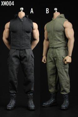 画像1: XRF 1/6 XM004 メンズ 男性 ノースリーブ フードジャケット セット 2種 *予約