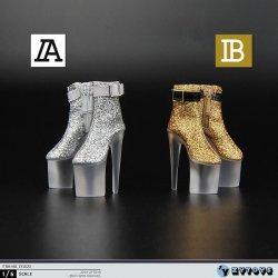 画像1: ZYTOYS 1/6 ZY1020 透明ソール フィメール ハイヒール ブーツ 2種 *予約