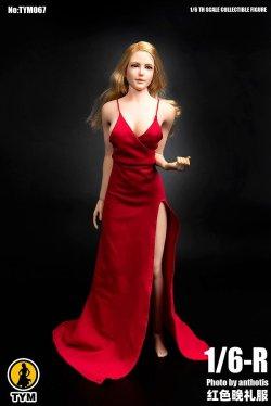 画像1: Technic Toys 1/6  Red Strap Evening Dress  TYM-067  *予約