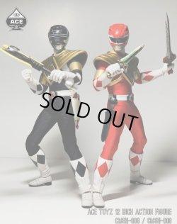 """画像2: Ace Toyz 1/6 Power Rangers パワーレンジャー """"Golden Red Hero"""" """"Golden Black Hero"""" アクションフィギュア CMSH-08 CMSH-09 *予約"""