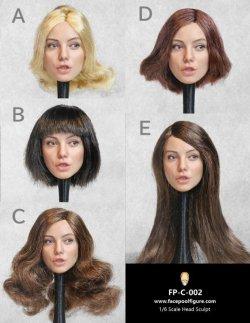 画像1: Facepoolfigure 1/6 女性ヘッド 表情 ユニーク 5種 FP-C-002 *予約