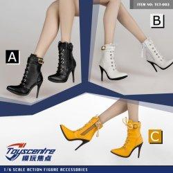 画像1: Toyscentre 1/6 女性 ショートブーツ ハイヒール 2種 TCT-003 *予約