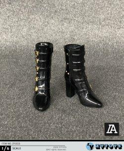 画像2: ZYTOYS 1/6 ZY1023 女性フィギュア用 ハイトップ ブーツ 2種 TBLeague *予約