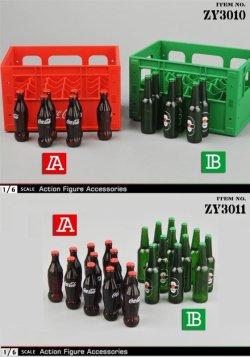 画像1: ZYTOYS 1/6 フィギュア用 コーラ ビール ボトル 運搬用ケース 4種 Cola Beer ZY3010 ZY3011 *予約
