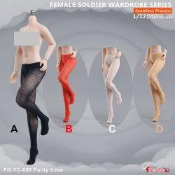 画像1: Fire Girl Toys 1/12 FG-YC-008 女性 シームレス シルク パンティストッキング パンスト 4種 *予約