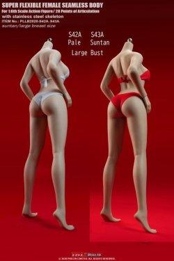 画像1: TBLeague 1/6 スーパーフレキシブル シームレス女性素体 ≪高身長≫ ラージバスト ヘッドなし S42A S43A *予約