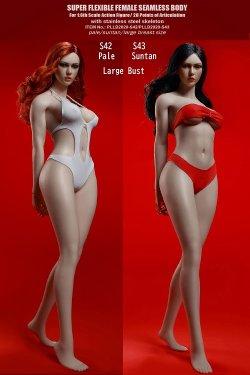 画像1: TBLeague 1/6 スーパーフレキシブル シームレス女性素体 ≪高身長≫ ラージバスト ヘッド付 S42 S43 *予約