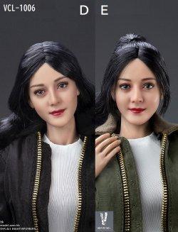 画像1: VERYCOOL 1/6 アジア美人女性ヘッド 2種 VCL-1006 D/E *予約