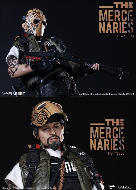 1//6 Scale Metal Dogtags Masked Mercenaries 2.0 Flagset Action Figures