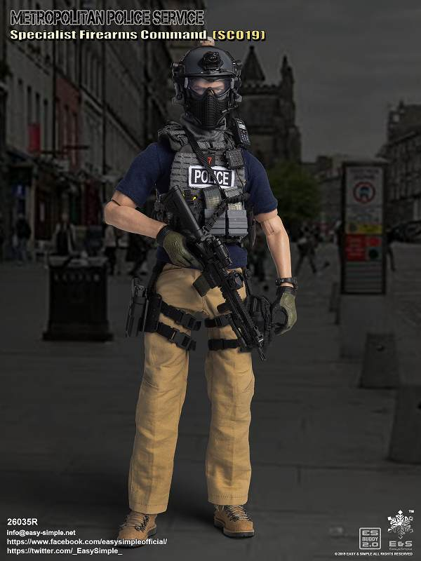 Easy/&Simple 1//6 British Specialist Firearms Command Sco19 Urban Tactical Version